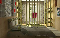 Bambú style bedroom