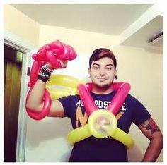man balloon costume #iron man #costume #balloon #sculpture #art #twist ...