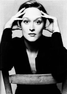 Meryl Streep photographed by Brigitte Lacombe, 1978.