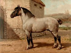 Het Bretagner Paard Breton Horse by Otto EERELMAN on Donald A. Heald
