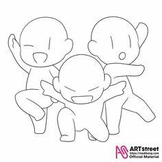 bases de dibujo - Bases de dibujo #18 - Página 2 - Wattpad Funny Drawings, Art Drawings Sketches Simple, Cool Drawings, Chibi Poses, Chibi Sketch, Chibi Drawing, Sketch Poses, Drawing Templates, Drawings Of Friends