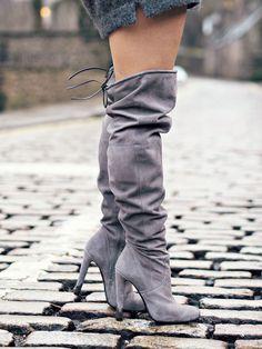 https://flic.kr/p/D5Amzp | Zalando over the knee boots the little magpie 25