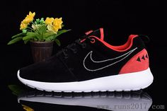 Nike Roshe Run Two Suede Black Red