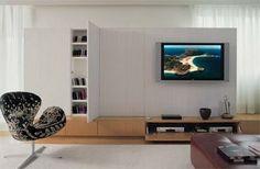 IDEIAS DA MARY: ESTANTES DE TV Flat Screen, House Design, Interior Design, Home, Furniture, Kitchen, Ideas, Interiors, Houses