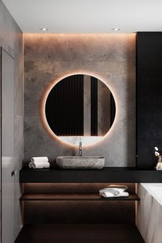 The bathroom is an essential part of the house, where it is good to take care of yourself and relax to fill with serenity. Discover our instructions for a Zen bathroom with our 8 decorating ideas: you have beautiful hours… Continue Reading → Bathroom Design Luxury, Modern Bathroom Design, Home Interior Design, Zen Bathroom, Small Bathroom, Washroom, Bad Inspiration, Bathroom Inspiration, Washbasin Design
