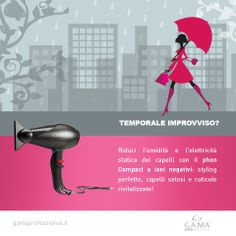 Unexpected storm? Compact ION #blowdryer is designed to reduce humidity and static electricity, for silky and revitalized hair! // Temporale improvviso? Il #phon Compact ION è studiato per ridurre l'umidità e l'elettricità statica, per una chioma setosa e rivitalizzata! www.gamaprofessional.it/Asciugacapelli/Compact_Ion_Nero #asciugacapelli #capelli #hair #dryer #dryers #hairdryers #haidryer #blowdry #gama #gamaitalia #gamaprofessional #haircare #beautytechnology #hairstyle