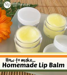 How to make homemade lip balm!  Not only is it easy, it's chemical free!