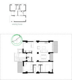 Two Floor Addition In Existing Building In Papagou,First Floor Plan