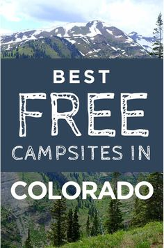 Camping season is here! Check out the best places to camp for free in Colorado season is here! Check out the best places to camp for free in Colorado! Auto Camping, Camping Hacks, Camping Spots, Camping Glamping, Van Camping, Camping Supplies, Camping Checklist, Outdoor Camping, Camping Essentials