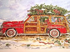 Susan Wallace Barnes Winter Woody Christmas Images Greetings Vintage Cards
