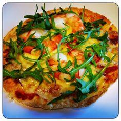Edel's Mat & Vin : Tortillapizza med scampi & ruccola  ✿