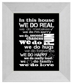 In This House Family Home Rules poster In by FancyPrintsforHome, $26.00