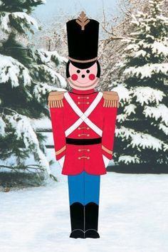 Christmas Outdoor Toy Soldier Wood Yard ArtLawn By