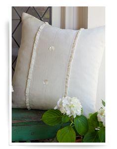 Hampton Cream Porch Pillow