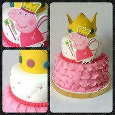 Cake Peppa Pig #pritycakes #cakes #edibleprints #fondantcakes #tortas #fondant #peppapig Cake Peppa Pig, Character Cakes, Fondant, Birthday Cake, Baking, Desserts, Food, Creativity, Food Cakes