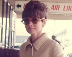 Audrey Hepburn at LAX Airport in Los Angeles, 1968.