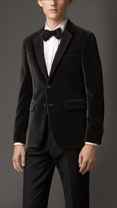 Burberry London Slim Fit Velvet Jacket