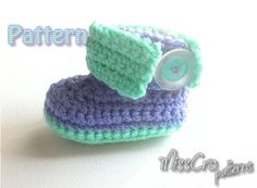 Crochet pattern - Baby booties crochet pattern *2 -  Instant Download  - Permission to sell finished items - Crochet pattern