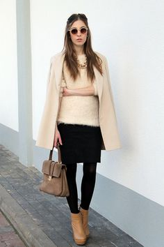 Nelly Shoes, H&M Sweater, Zara Skirt