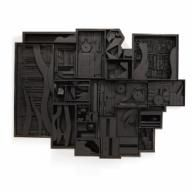 Louise Nevelson, Night Zag Wall, 1969-1974, Painted Wood  crystalbridges.org