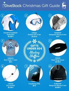 We know you've held your breath since we published our first gift guide a week ago and now we're finally back with some more awesome gift ideas for you!) Check out the best gift ideas for divers that are under 50 €! Christmas Gift Guide, Best Gifts, Gift Ideas, Awesome, Check, Blog, Blogging