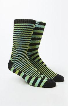 Breaker Stripe Crew Socks