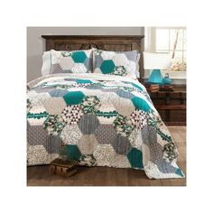 Lush Decor Briley 3-piece Quilt Set, Turquoise/Blue (Turq/Aqua)