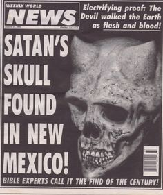 Funny Tabloid Headlines | Funny headlines from the Weekly World News