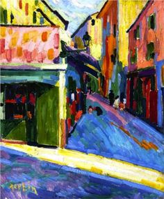 Auguste Herbin (French: 1882 – 1960) | Fauvism | A Street in Bastia