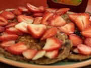 Soy Milk Pancake with Blueberry, Banana & Walnuts #recipe #video #videorecipe