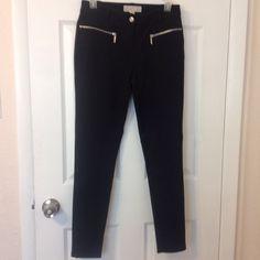 Black Michael Kors dress pant Stretchy black Michael Kors dress pant with cute zipper side pocket.  EUC Michael Kors Pants Skinny