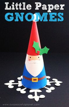 Download our FREE PRINTABLE PATTERN, cut, roll and there you have it: Instant Christmas Gnome!  You could use these little guys as ornaments, hang them around the house or just site them on you mantle. They are dang cute no matter how you use 'em.