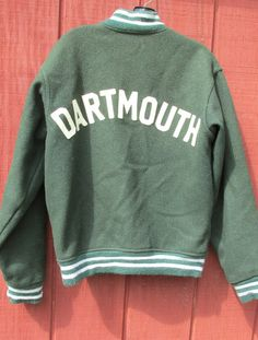 DARTMOUTH Jacket Ivy League Vintage Varsity Coat COLLEGIATE Sports Preppy Hipster Style Well Loved Sm to Med Mens