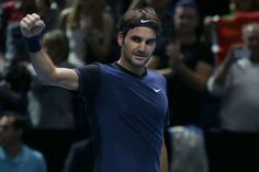 #federer #rogerfederer #tennis #federerscruff Switzerland's Roger Federer celebrates winning the match against Serbia's Novak Djokovic during their ATP World Tour Finals tennis match at the O2 Arena in London, England, Tuesday Nov. 17, 2015. (AP Photo/Tim Ireland)