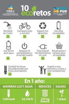 10 Eco-Retos [#Infografia] ; por @lauratermini