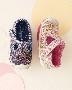 Morgan & Milo Floral T-Strap Sneakers, Sizes 4-7 - Garnet Hill