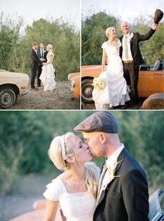 one of the first weddings I saw on the green wedding shoes blog over a year ago that got me hooked on rustic/vintage style weddings!