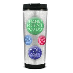 Thanks for All You Do Glitter Travel Tumbler from Successories Employee Gifts. tumbler glitters and shines while. Employee Appreciation Gifts, Employee Gifts, Admin Professionals Day, Admin Day, Customer Service Week, Administrative Professional Day, Staff Gifts, Cheap Gifts, Business Gifts