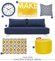 """navy, gray and yellow living room set""""bekahjoy813 on polyvore"""