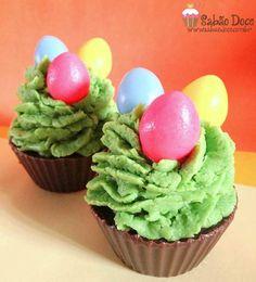 Irresistíveis sabonetes em formato de cupcake para Páscoa