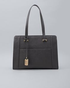097dfd52ac31 Women s Black Leather Saffiano Tote by White House Black Market Womens Tote  Bags