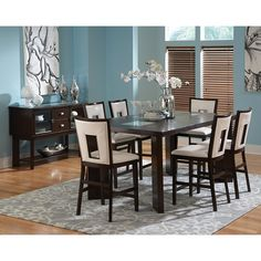 Have to have it. Steve Silver Delano 7 piece Counter Height Dining Set - Espresso - $1424 @hayneedle.com