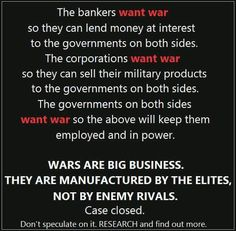 Wars pad corporations bottom line and they have no conscience when it comes to stepping over our dead soldiers to get it.