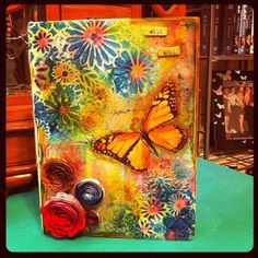 Wild soul altered storage book by Kellydoodle on Etsy, $30.00