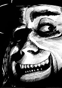 London After Midnight, by Russell Dickerson, based on the Lon Chaney Sr. Ink, x on 140 lb. London After Midnight, Russell Dickerson, Lon Chaney, Renaissance Men, Ink Art, Artsy Fartsy, Drawing Ideas, Character Art, Horror