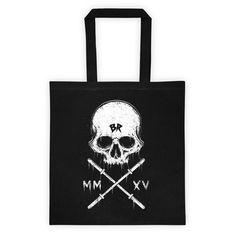 BR skull Tote bag black – Barbell Rocker