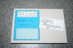 Carte anniversaire, coloris, bleu et gris