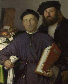 Giovanni Agostino della Torre and His Son, Niccolo - Lorenzo Lotto.  1513-16.  Oil on canvas.  85 x 68.2 cm.  The National Gallery, London, UK.