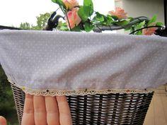 DIY bicycle basket lining step 11 - lilmissboho.com