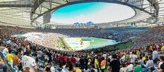 Panorama of the interior of the Maracanã stadium during the closing ceremony of the 2014 FIFA World Cup//File:Stadion Rio de Janeiro Finale WM 2014
